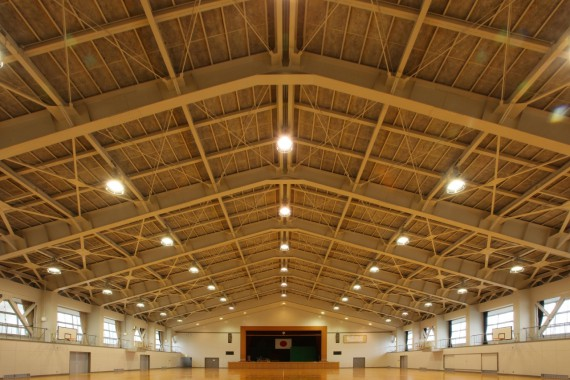 藤島高校第一体育館耐震補強建築工事